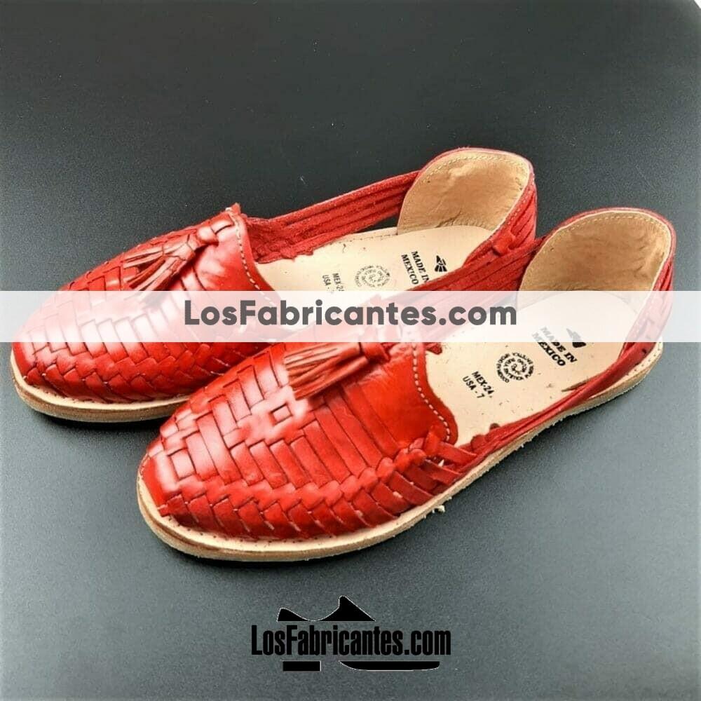 zj00005 Huarache Artesanal Mexicano Hecho mano piel Mujer Zapato piso calzado mayoreo fabrica proveedor maquilador fabricante mayorista taller sahuayo michoacan 2