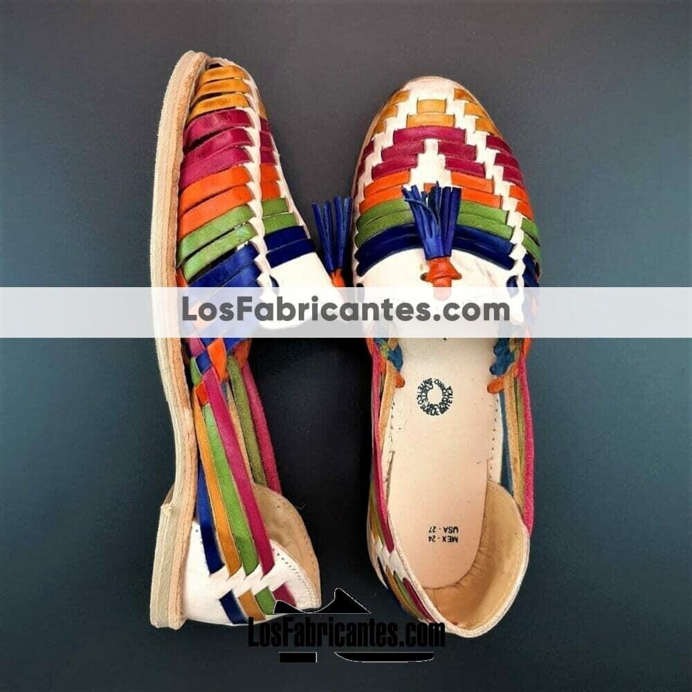 zj00008 Huarache Artesanal Mexicano Hecho mano piel Mujer Zapato piso calzado mayoreo fabrica proveedor maquilador fabricante mayorista taller sahuayo michoacan 2