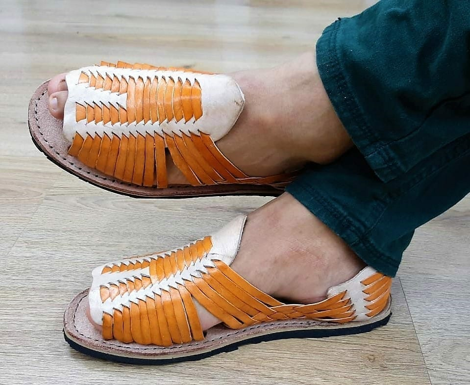 zj00112 Huarache Artesanal Mexicano Hecho mano piel hombre Zapato calzado mayoreo fabrica proveedor maquilador fabricante mayorista taller sahuayo michoacan