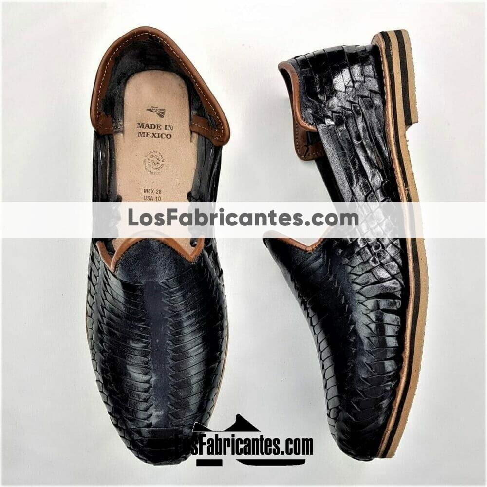 zj00125 Huarache Artesanal Mexicano Hecho mano piel hombre Zapato calzado mayoreo fabrica proveedor maquilador fabricante mayorista taller sahuayo michoacan 1