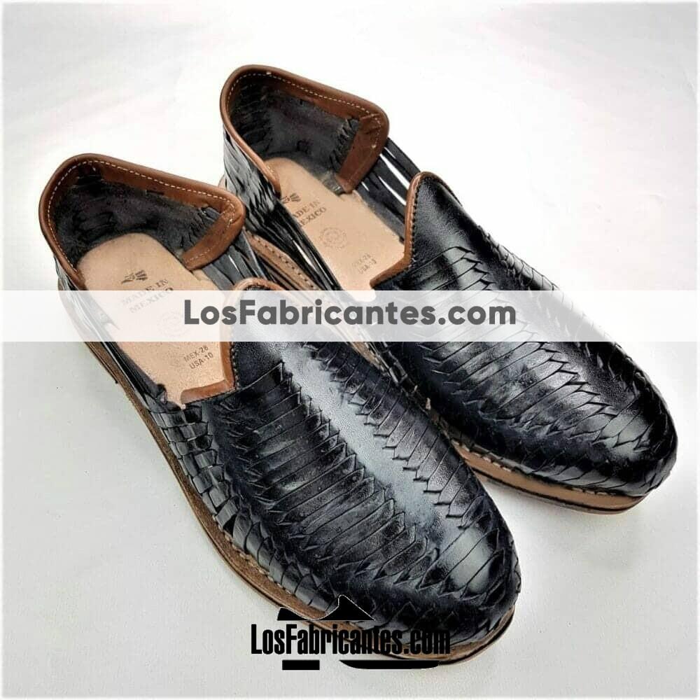 zj00125 Huarache Artesanal Mexicano Hecho mano piel hombre Zapato calzado mayoreo fabrica proveedor maquilador fabricante mayorista taller sahuayo michoacan 3