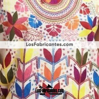 rj0062 Blusa artesanal bordado a mano milpas mujer mayoreo fabricante proveedor taller maquilador (2)