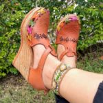 zs00739 Huarache artesanal plataforma mujer mayoreo fabricante calzado zapatos proveedor sandalias taller maquilador