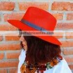 aj00151 Sombrero liso con toquilla artesanal mayoreo fabricante proveedor taller maquilador