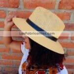 aj00151amarillo Sombrero liso con toquilla artesanal mexicano hecho en Leon Guanajuato mayoreo fabrica