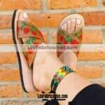 zs00814 Huaraches artesanales de piso mujer mayoreo fabricante calzado zapatos proveedor sandalias taller maquilador