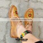 zs00819 Huaraches artesanales de piso mujer mayoreo fabricante calzado zapatos proveedor sandalias taller maquilador
