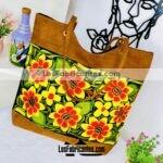 bs00179 Bolsa artesanal bordada medida de 31×38 cm aprox color negro diseño de flores amarillasmayoreo fabricante proveedor taller maquilador (1)