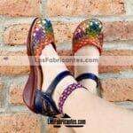 zs00826 Huaraches artesanales de piso mujer mayoreo fabricante calzado zapatos proveedor sandalias taller maquilador (1)