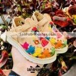 zs00994 Huaraches Mexicanos De Bebé Artesanales Color Tan De Piel Con bordado muñeca maria Hecho En Sahuayo Michoacanmayoreo fabricante calzado zapatos proveedor sandalias taller maquilador