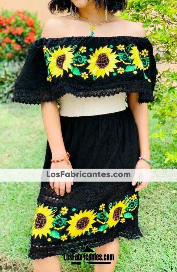 rj00724 Vestido artesanal mujer mayoreo ropa taller maquilador (1)