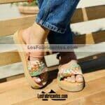 zj00940 Huaraches Mexicanos De Piso Mujer Color Rosa De Piel Con diseño tgejido Hecho En Sahuayo Michoacanmayoreo fabricante calzado zapatos proveedor sandalias taller maquilador(1)